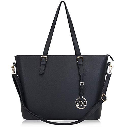 Vanessa & Melissa Damen Shopper Klassische Handtasche aus hochwertigem Kunstleder