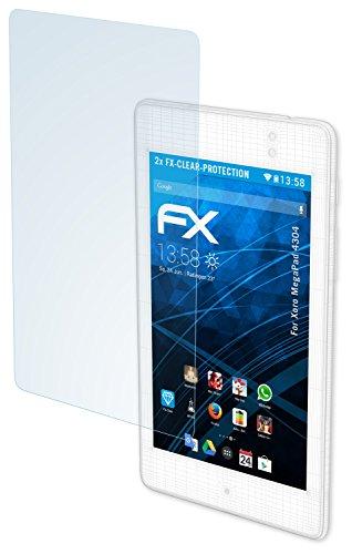 atFolix Schutzfolie kompatibel mit Xoro MegaPad 4304 Folie, ultraklare FX Bildschirmschutzfolie (2X)