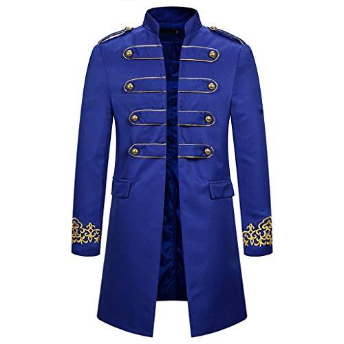 Luckycat Chaqueta de Hombre Vintage Retro Coat Steampunk Gothic Jacquard Chaqueta Steampunk Gotico Chaqueta...