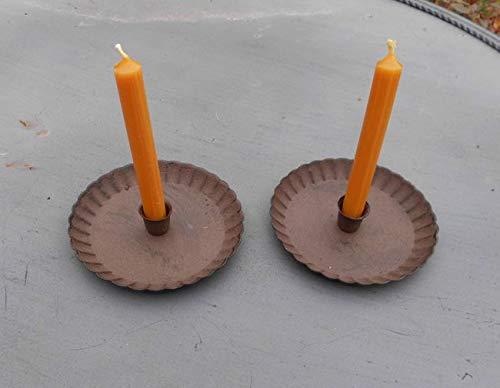 Deko-Impression Kerzenteller Kerzenhalter Kerzenständer 2er Set Eisen f. Baumkerzen