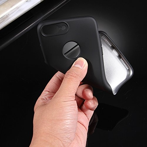 BING per iPhone 7 Plus 360 gradi pieno Custodia Soft TPU Cover posteriore + pc Front Combination Case Bing Black
