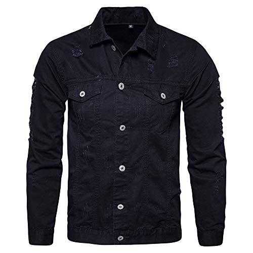 Mens Silk Knit Tank Top (Beonzale Mens Casual Herbst Winter Loch Langarm Demin Jacke Tops Coat Outwear Bluse)