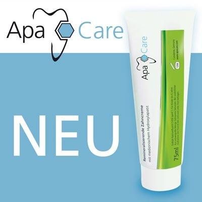 Apa Care Zahncreme mit medizinischem Hydroxylapatit 75ml neue Größe