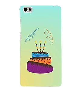 Happy Birthday Cake 3D Hard Polycarbonate Designer Back Case Cover for Xiaomi Mi 5 :: Redmi Mi5