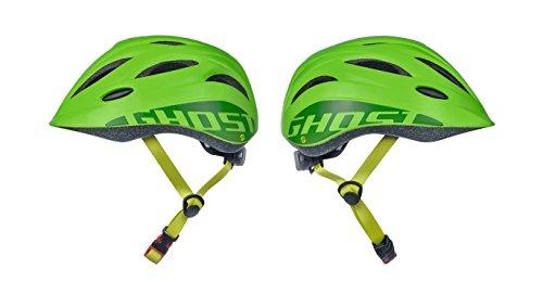 GHOST Kids Helm - in riot green / lime green- Größe 52-56 cm - Kinder Fahrradhelm