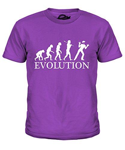ion Des Menschen Unisex Jungen Mädchen T Shirt, Größe 10 Jahre, Farbe Violett (Mime-mädchen-kostüm)