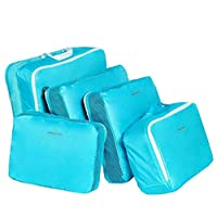 5-piece Travel Bag Organizer Set - Blue