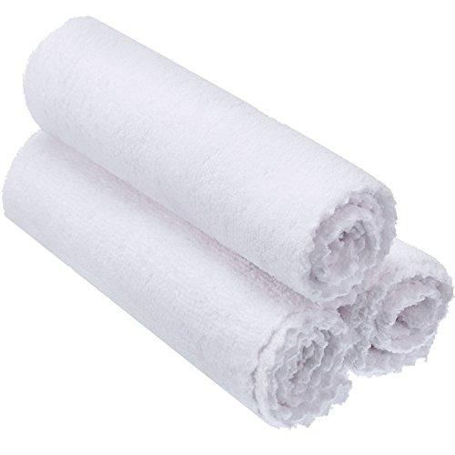 Paño de Limpieza de Microfibra para Pulir Coche, Limpiar Polvo, Absorber Agua, Espeso y Suave, Textura Fina, Toalla de No Pelusa, Grande 16 x 16 Pulgadas, 3 Piezas