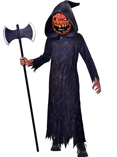Fancy Me Jungen Teenager Gruselig Unheimlich Gruselig Pumpkin Sensenmann Halloween Kostüm Kleid Outfit 5-12 Jahre - 9-10 years