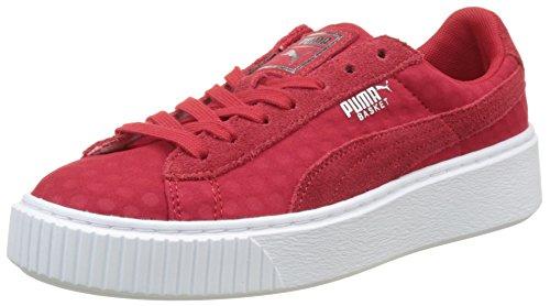 Puma Damen Basket Platform De Sneaker, Rot (Toreador-Toreador), 38 EU (Frauen Puma Flats)