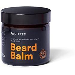 FOSTERED Beard Balm aus Bio Ölen - Bart Balsam 60 g für die perfekte Bartpflege - Natürlich weicher und gepflegter Bart