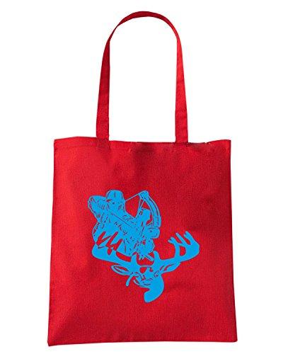 T-Shirtshock - Borsa Shopping FUN1183 deer hunting bow a 2 Rosso