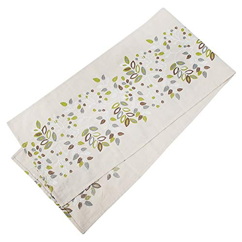 Chemin de table Nappe de broderie de feuille, chemin de table pour la famille Family Mat Birthday Birthday Wedding Supplies Coffee Mat Hotel Literie (taille : 35×220cm)