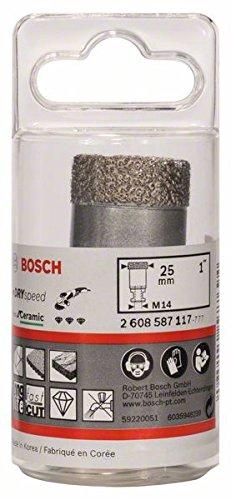 Bosch Professional Diamanattrockenbohrer (für Keramik, Durchmesser 25 mm, Zubehör für Winkelschleifer)
