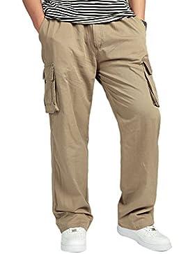 Insun - Pantalón - para hombre Marrón Trigo XXXL