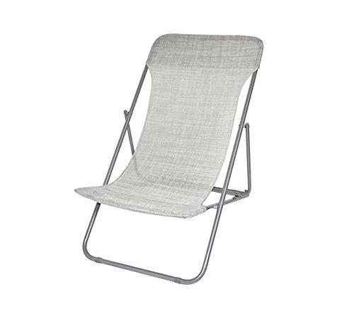 Mediawave store sedia sdraio pieghevole 099520 onshore 3 posizioni spiaggina textilene (grigio)
