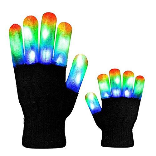 Inciple LED Leuchthandschuhe Bühnen Performance Handschuhe Bunte Kostüm Requisiten Helle LED Blinklicht Halloween Weihnachten Liefert Geschenke Für Kinder