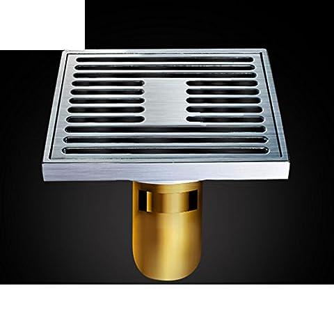 Drain de plancher grand déodorant de cuivre/Salle de bain salle de bain lave linge s'égoutter-B