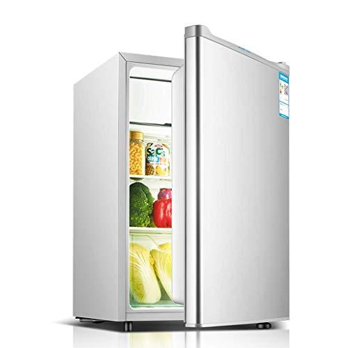 QCYSK Mini-Kühlschrank 71L mit Untertischkühlschrank und überdachtem Kühlfach - Kleiner Getränkeautomat für Büro, Wohnheim oder Wohnung mit verstellbaren herausnehmbaren Regalen -