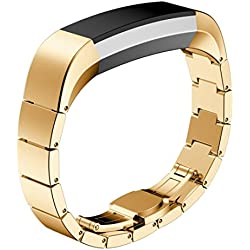 JACKY Fitbit Alta Stainless Steel Watch Band Wrist strap Gold