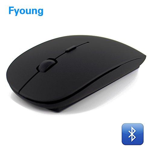 Bluetooth Maus Geräuschlos Kabellose Mouse, Tragbar Wireless Mäuse mit 1000/1400/1600 DPI Optional für PC Laptop iMac Macbook Microsoft Pro, Büro Zuhause- Schwarz