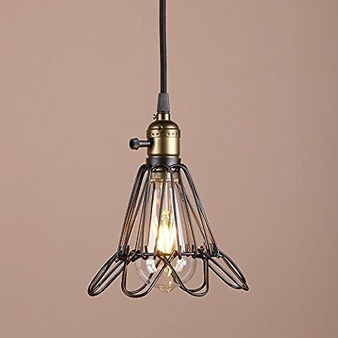 Buyee® Vintage Abertura y Cierre Colgante Luz Jaula De Alambre Lámpara Protector Lámpara Colgante Instalación