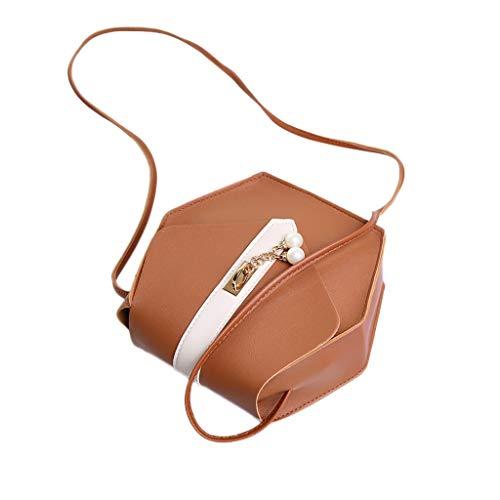 Mitlfuny handbemalte Ledertasche, Schultertasche, Geschenk, Handgefertigte Tasche,Frauen Damenmode Perle Crossbody Messenger Handtasche Totes Umhängetaschen -
