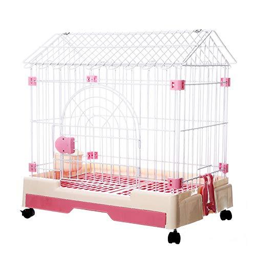 Casse per cani in metallo a porta singola, box portatile per animali domestici, canile da cortile per piccoli animali domestici