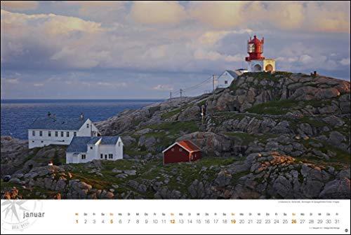 Hurtigruten Globetrotter: Von unberührten Fjorden und stillen Bergen. Wandkalender 2020. Monatskalendarium. Spiralbindung. Format 58 x 39 cm: Alle Infos bei Amazon