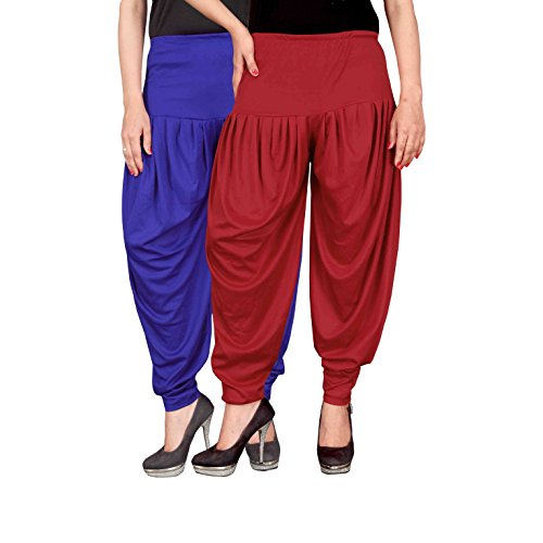 Culture the Dignity Women's Lycra Dhoti Patiala Salwar Harem Pants Combo Pack...