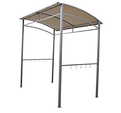 2m x1.5m Garden BBQ Grill Gazebo-Beige - This metal gazebo can be used for creating extra room for outdoor parties, family picnic or social gatherings