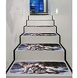 YZ-YUAN Stufenmatten Treppen Teppich Treppenstufen 5Pcs, Selbstklebende Rutschfeste Teppich Treppenstufen Set Von 5 Rutschfeste Gummi Backing Bodenschutz Pad Vergleich