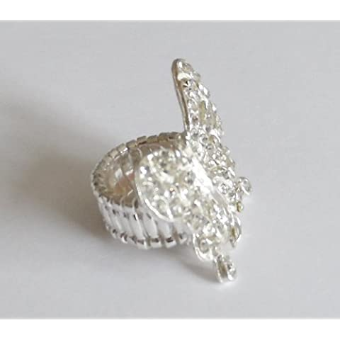 Angel Malone Gorgeous A Grade Crystal Butterfly Link Ring Making Kit. (Written instructions are not supplied) See below for instructions by Angel Malone - Tie Nail Knot