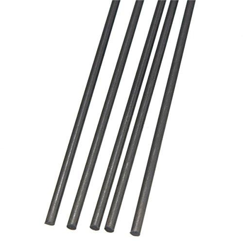 EsportsMJJ 5Pcs 2 mm Durchmesser X 500 mm Carbon-Faser-Stäbe Für Rc Flugzeug Matte Pole -
