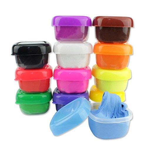 Schlammspielzeug für Geschenk, Sansee 12 Farben Floam Slime Duft Stress Relief Kein Borax Kinder Spielzeug Schlamm Spielzeug (#1133, (Boot Kostüm Karton)
