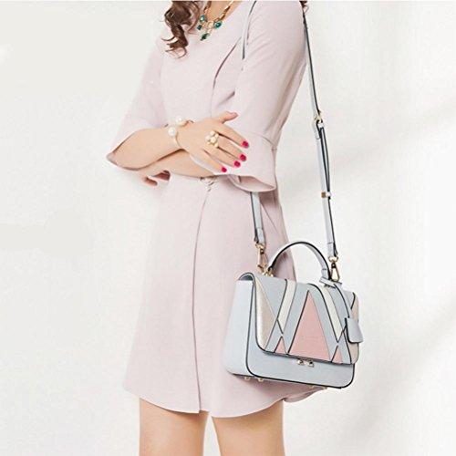 Donna moda borse in pelle borse a tracolla messenger bag nero blu, blue blue