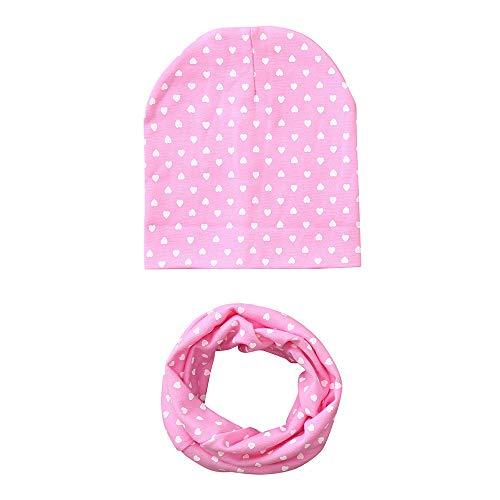 -Ring Schal Jungen Mädchen Kleinkinder Schal Kind Schal Hüte Mützen für 3-24 Monate(Rosa,Einheitsgröße) ()