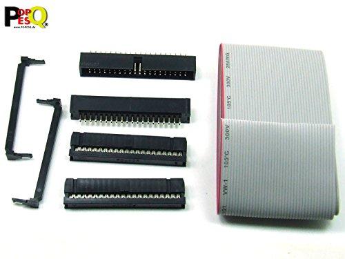 POPESQ® - IDC KIT 40 polig/pin + 30 cm Flachbandkabel Ribbon Cable Buchse Stecker Header #A1629