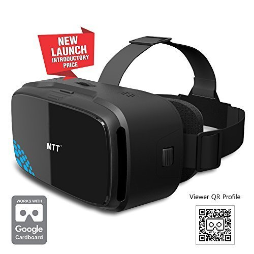 MTT® 3D VR Headset Glass - Advanced Virtual Reality Glasses for most slim Android/iOS Smartphones (Black)