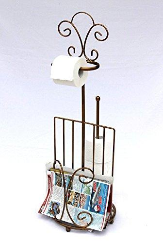 DanDiBo Toilettenrollenhalter mit Zeitungsfach 10-1263 Toilettenpapierhalter 96 cm Bronz