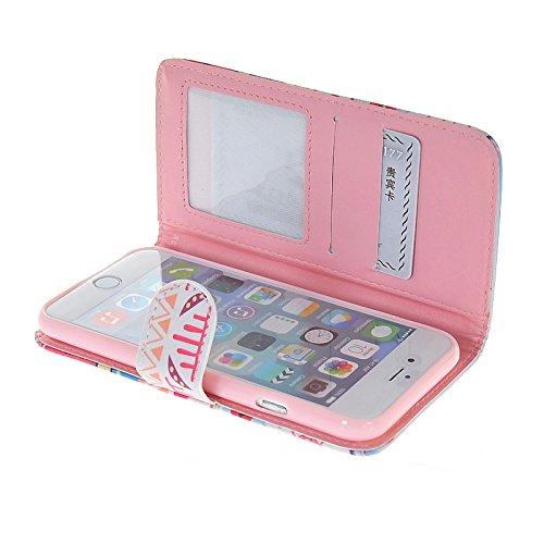 MOONCASE Coque en Cuir Portefeuille Housse de Protection Étui à rabat Case pour Apple iPhone 6 (4.7 inch) A02