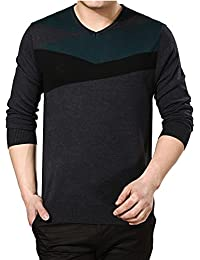 Amurleopard Casual Pull over homme col V
