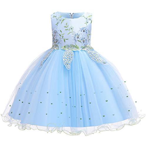 Allence Babybekleidung Baby-Mädchen Prinzessin Kleid Festzug Taufkleid Hochzeit Partykleid Mädchen Tüll Kleidung Blumenmädchenkleid (Dress Up Für Die Schule-ideen)