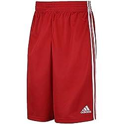 adidas Y COMMANDER S - Pantalón corto para hombre, color rojo / blanco, talla 164