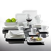 Malacasa, Series Joesfa, 30-Piece Two Round Corners Porcelain Dinner Set