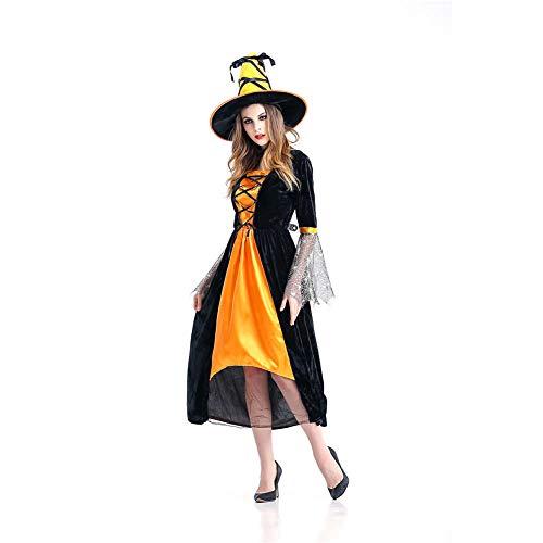 Kostüm Der Nacht Herrin - TIANFUSW Herrin Hexenkostüm Hexe Sexy Halloween Kostüm für Frauen, M