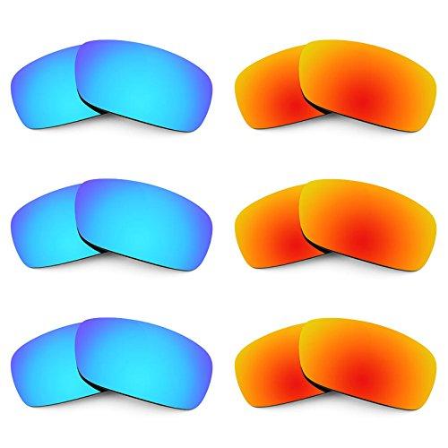 Revant Ersatzlinsen für Arnette Infamous AN4076 Polarisiert 6 Paar Kombipack K029