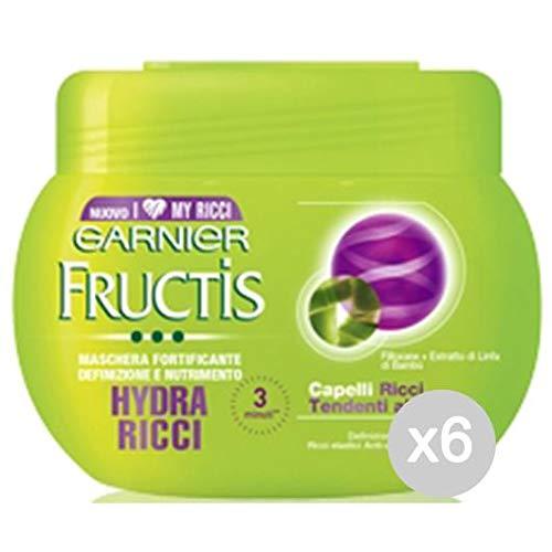 Lot 6Masque Hydra-Ricci 300ML Soin et Traitement des Cheveux, Multicolore, Unique,FRUCTIS,