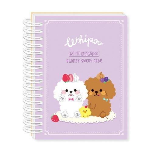 Álbum pegatinas kawaii violeta perro pollito gracioso adhesivos de Mind Wave