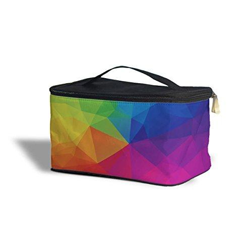 Rainbow formes géométriques étui de rangement de Cosmétique – Maquillage à fermeture Éclair Sac de voyage, Polyester, multicoloured, One Size Cosmetics Storage Case